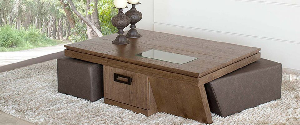 Coffee table with waiters