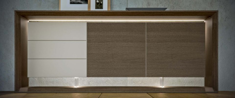 Sideboard with plexi glass