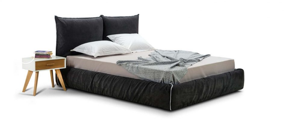 Ντυμένο κρεβάτι με αποθηκευτικό χώρο