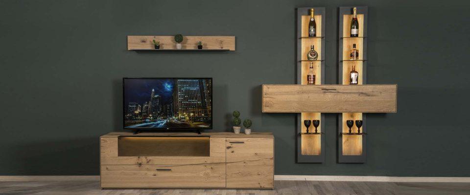 Σύνθεση TV με φωτισμό