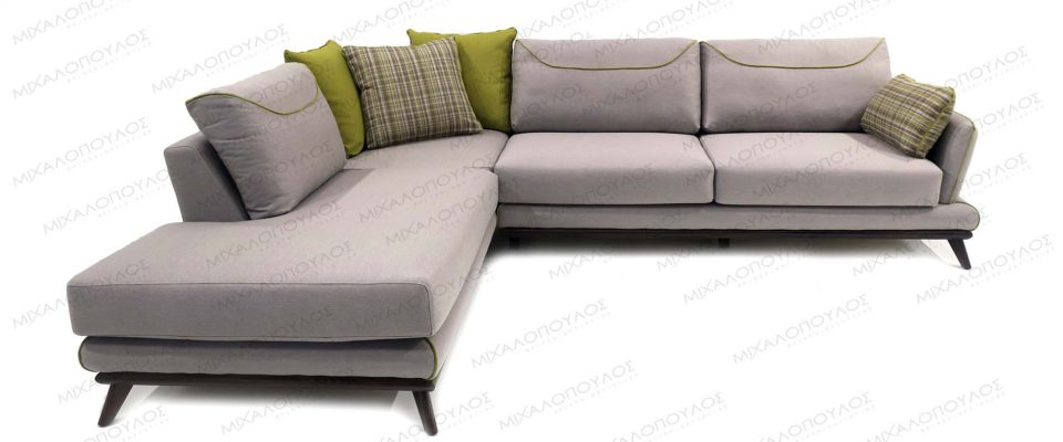 Sofa with wooden detail