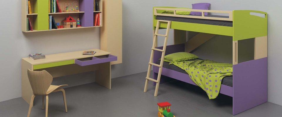 Παιδική κουκέτα με μεταλλική σκάλα
