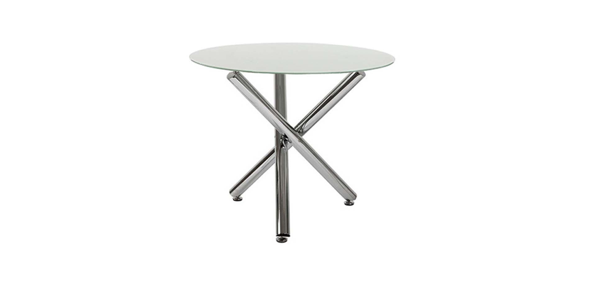 Στρογγυλό γυάλινο τραπέζι