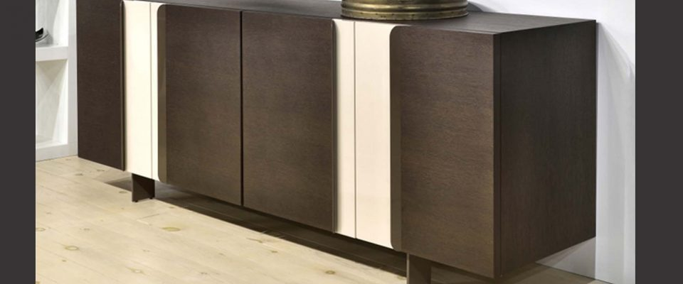 Sideboard with laquered details
