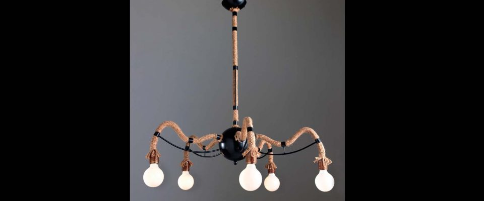 Pendant light with rope