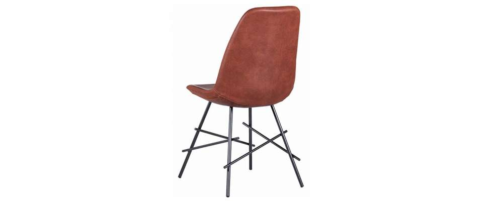 Dining chairs with metal base