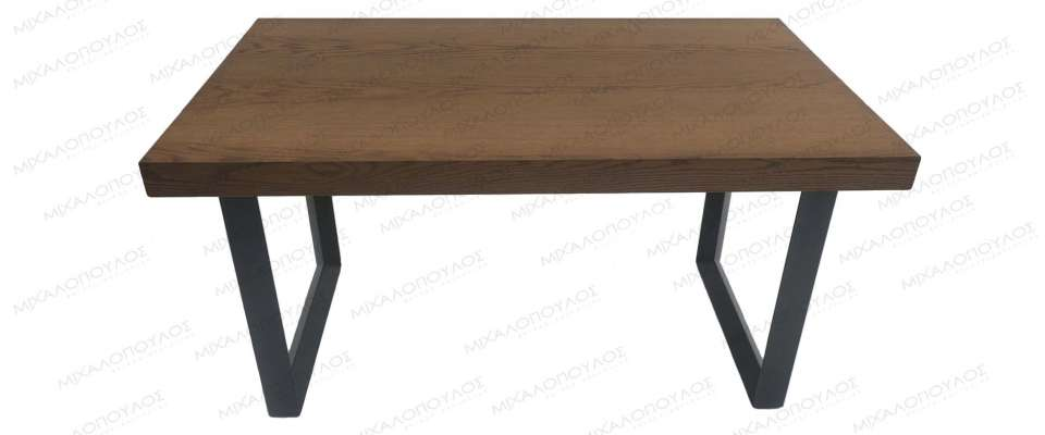 Kitchen table with metal legs
