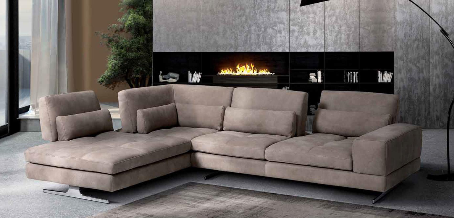 Max Divani Leather Recliner Sofa