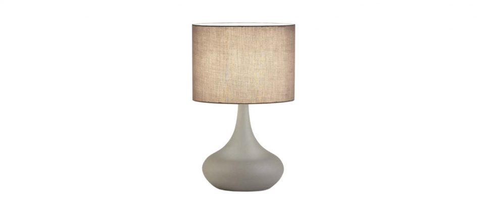 Table lamp with a cloth hat