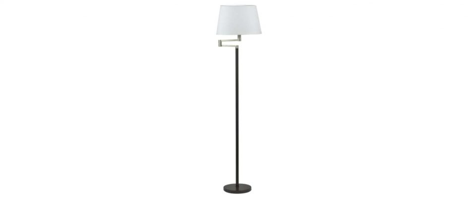 Floor lamp with fabric shade