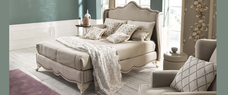 Dressed bed Alloro TreCi Salotti