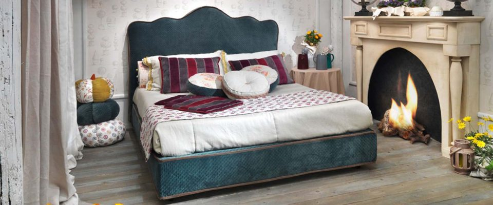 Dressed bed Pimento TreCi Salotti
