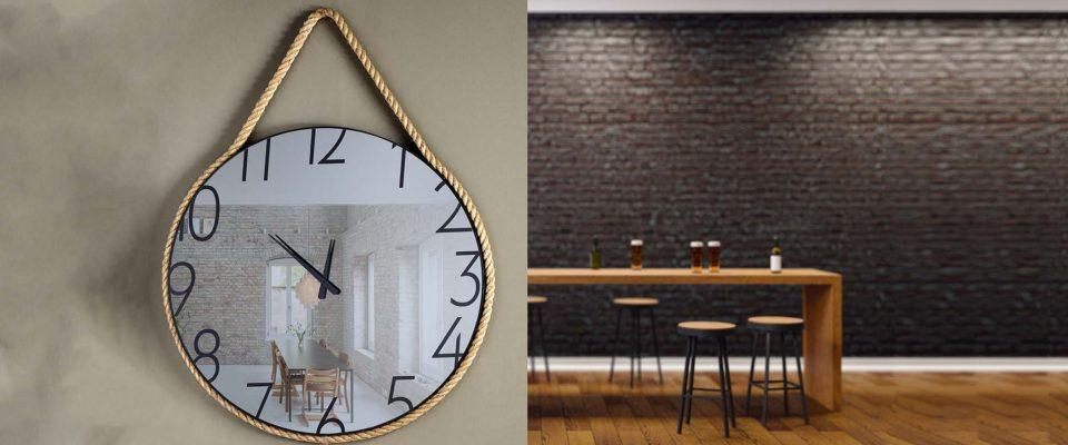 Decorative mirror-clock