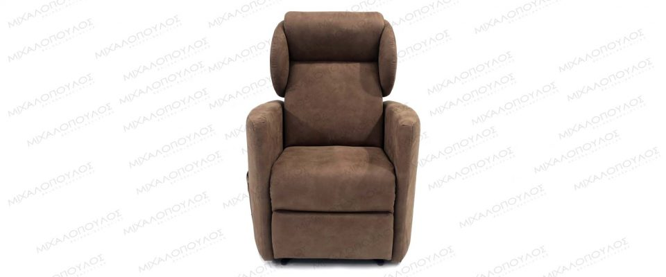 Armchair with electrically adjustable