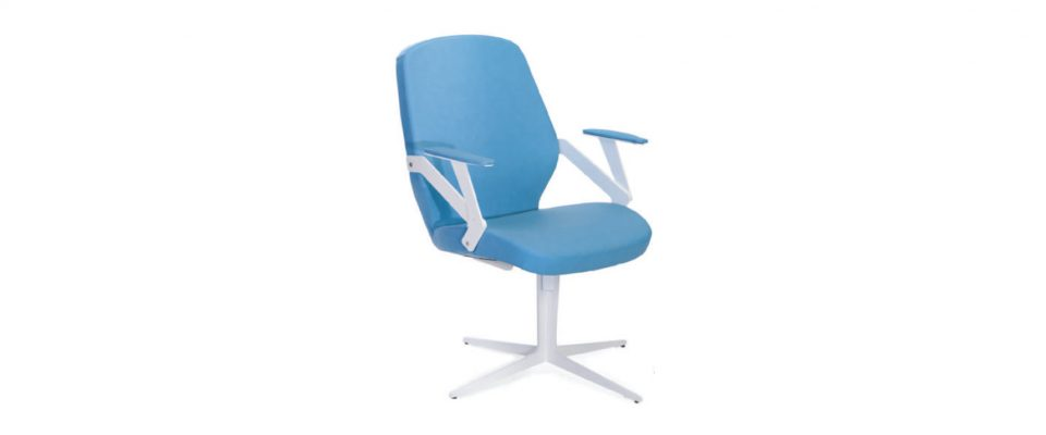 Visitor chair STEEL WHITE