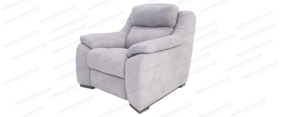 Italian leather armchair with electric tilt