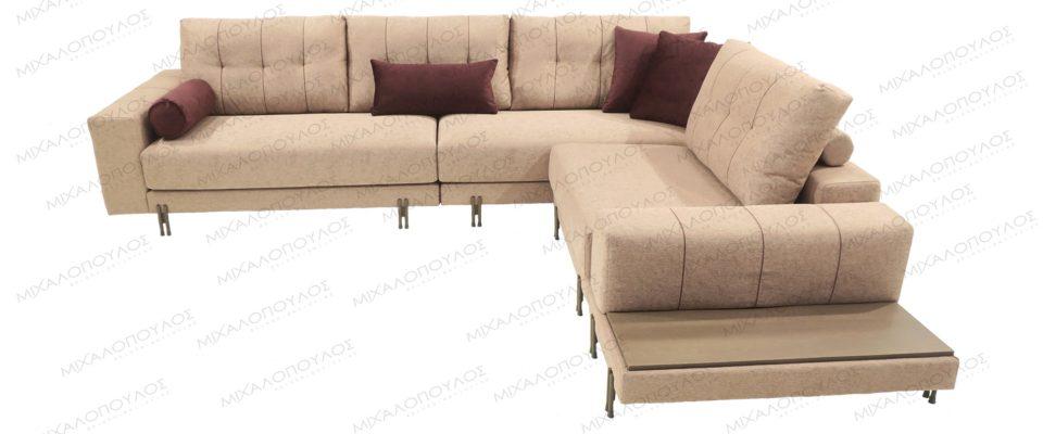 Γωνιακός πολυμορφικός καναπές